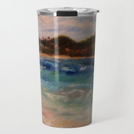 Winter Seaside Fantasy by Marianne Fadden Travel Mug
