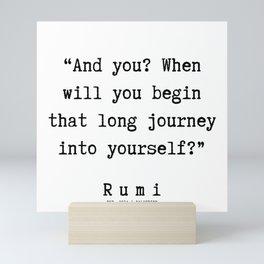 52 | Rumi Quotes  | 190921 Mini Art Print