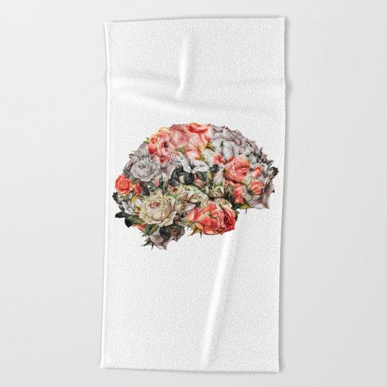 Flower Brain Beach Towel