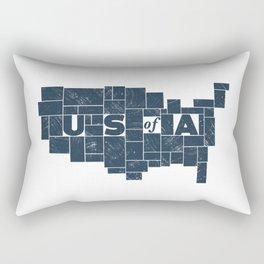 U S of A Rectangular Pillow