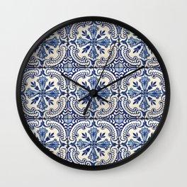 Azulejo — Portuguese ceramic #14 Wall Clock