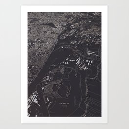 Hamburg 3D city map Art Print