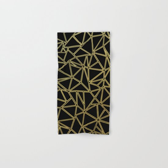Abstract Blocks Gold Hand & Bath Towel
