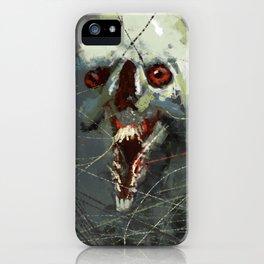 Creature strange weird horror funny illustration painting iPhone Case