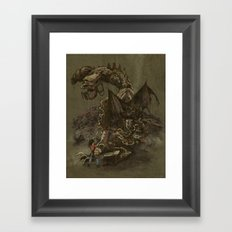 Junkyard Dragon  Framed Art Print