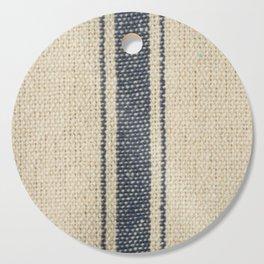 Vintage French Farmhouse Grain Sack Cutting Board