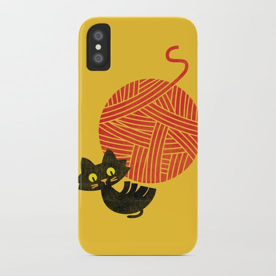 Fitz - Happiness (cat and yarn) iPhone Case