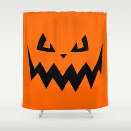 """Harkness"" Jack O'Lantern - Halloween, Pumpkin, Orange, Black Shower Curtain"