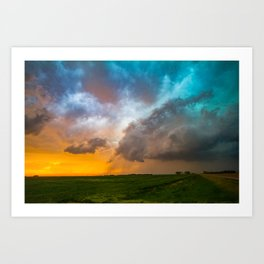 Glorious - Stormy Sky and Kansas Sunset Art Print