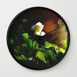 Sunset Lotus Wall Clock