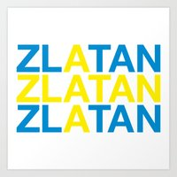 zlatan Art Prints featuring ZLATAN by eyesblau