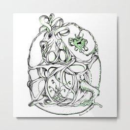 Entangled Unicorn Metal Print