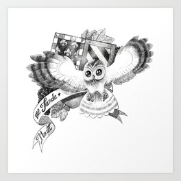 Chouette Art Print