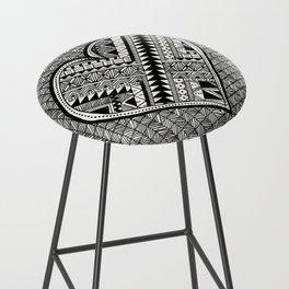 Modern, black and white, geometric shaped heart Bar Stool