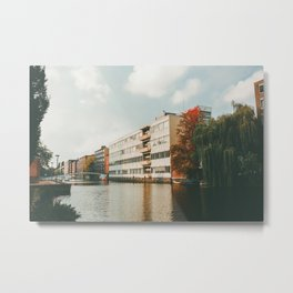 Amsterdam Canals Metal Print