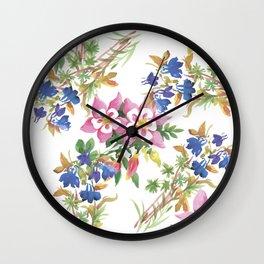 Painting lili flowers Wall Clock