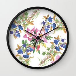 Painting lili flowers Wall Clock