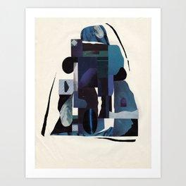 Blue Scale Art Print