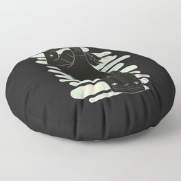 Virgo - Zodiac Illustration Floor Pillow