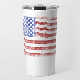Guitar American Rock Gift US Flag Rock Guitars Concert Music Festival Travel Mug