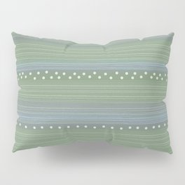Green with Stripes and Dots Pillow Sham