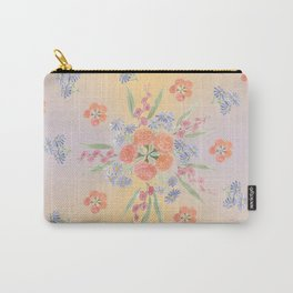 Marigolds and Asters Mandala Carry-All Pouch