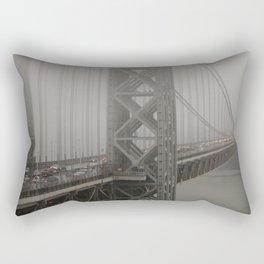 fog on the bridge Rectangular Pillow