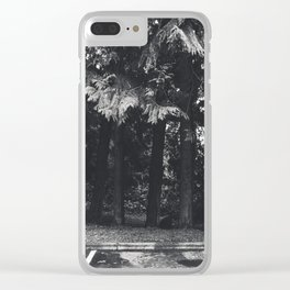 Moody Trees Clear iPhone Case