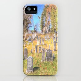 Sleepy Hollow Cemetery Sketch iPhone Case