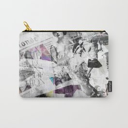 Newspaper collage Carry-All Pouch