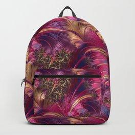 Fancy Fractal Fashion Design Pink Gold Backpack