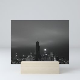 Chicago Willis Tower out of power Mini Art Print
