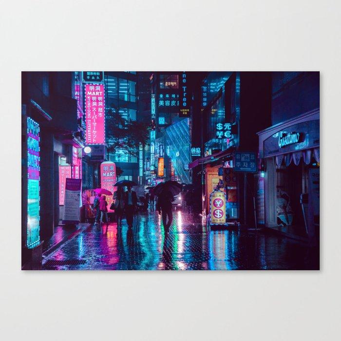 Myeongdong at night Canvas Print