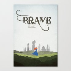 Brave - minimal poster Canvas Print