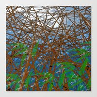 bamboo Canvas Prints featuring Bamboo by dominiquelandau