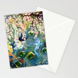 Japanese Koi Fish Pond Stationery Cards