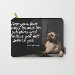 Pug in the Sun Carry-All Pouch
