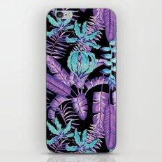 tropical purple pattern iPhone & iPod Skin