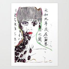 Amelie is dead Art Print