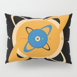 Solar System To Scale - Concentric Pillow Sham
