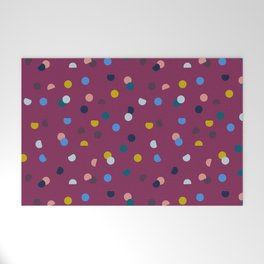 Purple Confetti Spot Welcome Mat