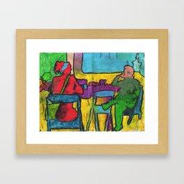 CDMX CAFE Framed Art Print
