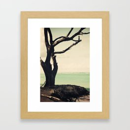 Forever is composed of nows Framed Art Print