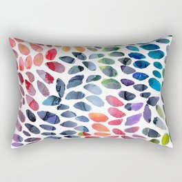 Colorful Painted Drops Rectangular Pillow