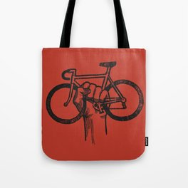 Bicycle Protest Sign Tote Bag