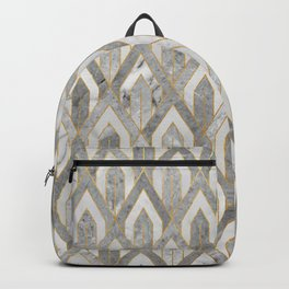 Art Deco Marble Pattern Backpack