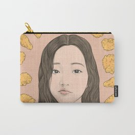 GIRL WITH CHICKEN Carry-All Pouch