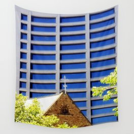 Blessing the Skyscrapers Wall Tapestry