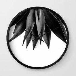 Agave fringe - noir Wall Clock