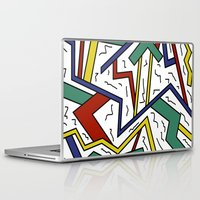 90s Laptop & iPad Skins featuring 90s or Bust by Cale potts Art